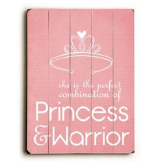 'Princess & Warrior' Wall Art - In a little girl's room. I wanna raise princess warriors. Not to be confused with Xena Warrior Princess Little Girl Rooms, My Little Girl, My Baby Girl, Little Princess, My Princess, Princess Louise, Princess Palace, Disney Princess, Wood Wall Decor