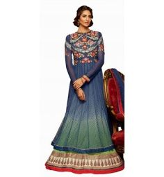 Tremendous Embossed Floor Length Net Anarkali 708