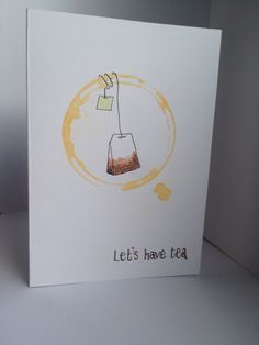 """""""Contact Haley"""" on Etsy -Lets Have Tea greeting card"""