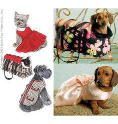 Pet Patterns - Kwik Sew Pet Jacket, Dress and Carrier Pattern Kwik Sew Patterns, Smocking Patterns, Coat Patterns, Quilting Patterns, Pre Quilted Fabric, Dog Coat Pattern, Pet Fashion, Dog Items, Puppy Clothes