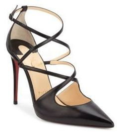 Christian Louboutin Crossfliketa Leather Pumps #stilettoheelslouboutin