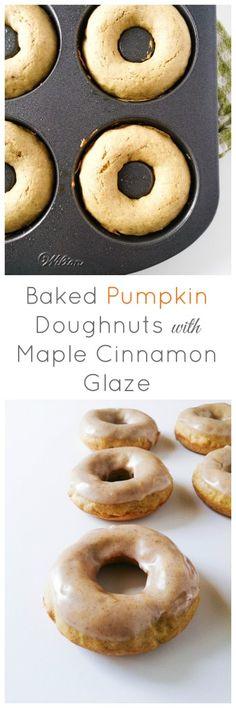 Baked Pumpkin Doughnuts with Maple Cinnamon Glaze | Marsha's Baking ...