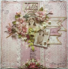 Such a Pretty Mess: Scrapping Pink! {Maja Design and Tresors de Luxe}