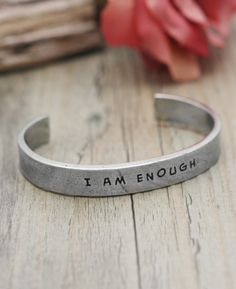 I Am Enough Inspirational Bracelet by Buddha Groove