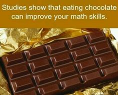 "I'd like to see the data from the ""studies""...but if this is true...bring on the chocolate!"