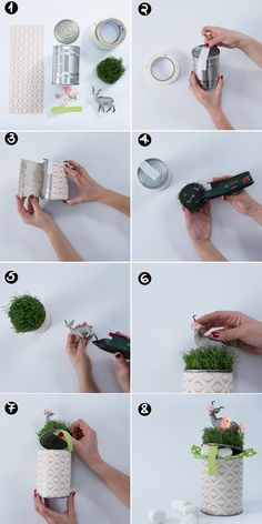 Christmas DIY - Recycled tin can into a beautiful & creative gift box. Designed by Dana israeli