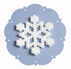 Snowflake hama beads by bibouchka