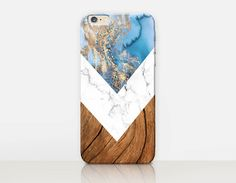 Marble Wood Phone Case   iPhone 7 Case  iPhone 7 Plus by CRCases