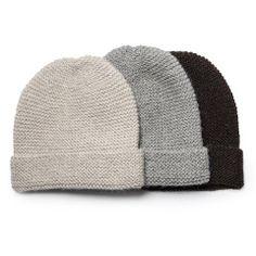 Llama Wool Knit Beanie Hat