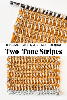 Tunisian Crochet Patterns, Tunisian Crochet Stitches, Crochet Patterns For Beginners, Crochet Basics, Crochet Hooks, Free Crochet, Knit Crochet, Beginner Crochet, Crochet Crafts