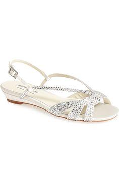 3d7f0fe032e2 Benjamin Adams London  Cara  Silk   Crystal Wedge Sandal (Women)