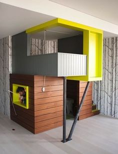 7 Indoor Playhouses That Are Beautiful Additions to Any Child's Bedroom | Even adult would be jealous of playhouses this cool!