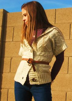 belted chunky sweater