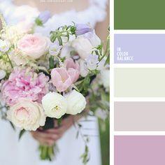 amarillo y verde, amarillo y violeta, color lavanda y malva, color lila, color verde oscuro, colores de diseño, colores de la primavera, combinaciones de colores primaverales, de color verde lechuga, elección de colores, lechoso y beige, paleta de colores para primavera, paletas de diseño,
