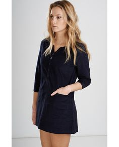 Navy Cord Tunic Dress Fair Trade, Cord, Tunic, Product Description, Brand New, Navy, Casual, Sleeves, Dresses
