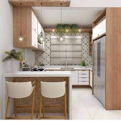 Kitchen Cupboard Designs, Kitchen Room Design, Modern Kitchen Design, Home Decor Kitchen, Interior Design Kitchen, Home Interior, Teal Kitchen, Kitchen Ideas, Small Modern Kitchens