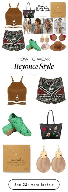 """""""three wishes"""" by jeesxx on Polyvore featuring Dogeared, Glamorous, Karl Lagerfeld, RHYTHM, Marni and Alexis Bittar"""