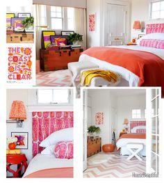 tangerine tango bedroom # pink and orange bedroom