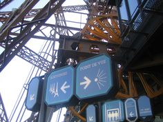 going up the eiffel tower