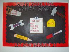 let God rebuild your life idea