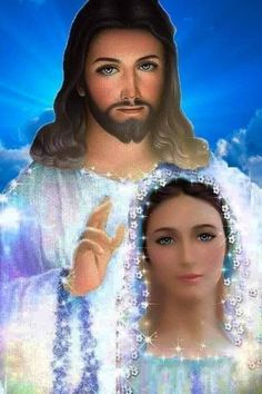 Jesus And Mary Pictures, Mother Mary Images, Pictures Of Jesus Christ, Mary And Jesus, Jesus Our Savior, Jesus Art, God Jesus, Blessed Mother Mary, Blessed Virgin Mary