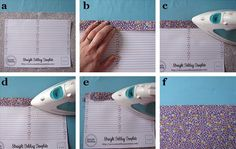 A free printable template to help you iron accurate folds onto fabric.  Genius!