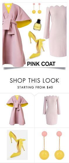 """""""Just Fab"""" by tina-pieterse ❤ liked on Polyvore featuring Delpozo, Chicwish, JustFab, J.W. Anderson, Yves Saint Laurent and pinkcoat"""