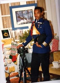 The Donald - Military Attache Uniform Designed for Bahamas Man of The Year 1991 Competition. As 1st runner up Donald Sweeting was awarded title of Mr Quincentennial 1992.