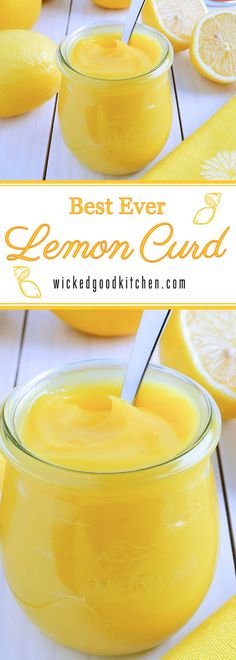 Homemade Lemon Curd | Luscious, creamy and smooth, bright sunny yellow and bursting with fresh lemony citrus flavor, our Homemade Lemon Curd recipe is made using foolproof techniques. Perfect for gift-giving as well as for everyday, Christmas holiday and special occasion desserts. It's like sunshine on a spoon!