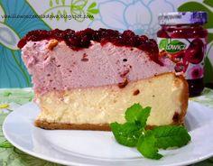 Słodko i wytrawnie. : Najlepszy sernik wykwintny z wiśniowo-różaną piank...