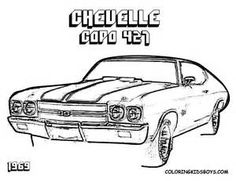 Gmc Muscle Cars further Chevy Van Coloring Pages together with Drifting Cars Outline Colouring Page Coloring further Mustang Coloring Pages in addition Chevy Pickup Truck Clipart. on old chevrolet police cars