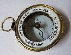 Maritime Straightforward Maritime Compass Sundial Navigation Camping Vintage Clocks