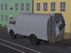 Skoda 706 Müllabfuhr-Fahrzeug mit Tauschtextur