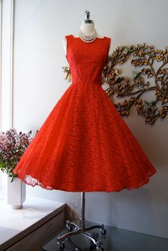 Fab Vintage - 50s Dress // 50s Prom Dress // 50s Party Dress // by xtabayvintage, $198.00#Repin By:Pinterest++ for iPad#
