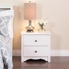 Prepac White Nightstand at Lowe's. With its elegant detailing and practical storage, the Monterey 2 drawer nightstand is more than just a place to keep your bedside lamp. This space-saving Bedroom Decor, Drawers, Furnishings, Room, Home Decor, Prepac, White Nightstand, Bedroom Furniture, Furniture