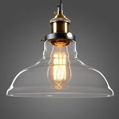 Glass Shade Vintage Pendant Light Industrial Ceiling Lamp Hanging Retro Kitchen