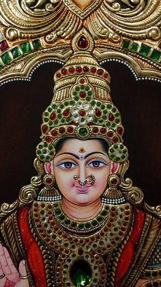 Mysore Painting, Kalamkari Painting, Tanjore Painting, Mural Painting, Mural Art, Murals, Hindu Statues, Kali Goddess, Ganesha Art
