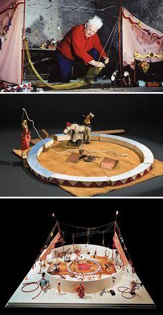 Alexander Calder performing his Circus (via klt's) - - Este genio me llenó de cosas móviles la cabeza hace muchos años... Es hermoso! Y su circo es una belleza que me sigue emocionando... Aquí está el enlace para verlo en video  https://www.youtube.com/watch?v=u4LdlxaxAFA
