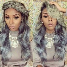 Gray ombré hair color