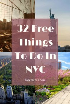Just because the average home costs over 1 million dollars, it doesn't mean that there aren't plenty of things to do in NYC that won't cost you a dime. York Things To Do, Cheap Things To Do, Free Things To Do, New York City Vacation, New York City Travel, New York Bucket List, Solo Travel Tips, Travel Hacks, Budget Travel