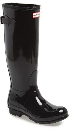 Hunter Adjustable Back Gloss Rain Boot (Women) on shopstyle.com