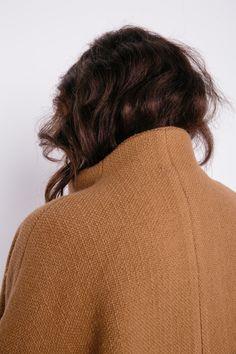 Cocoon Coat in Heavy Basketweave Wool – Elizabeth Suzann