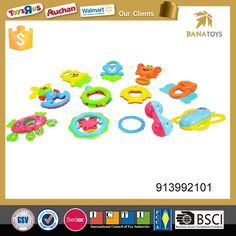 Happy cartoon animal toy plastic hanging bell baby rattle - Rattles & Teethers &Soothers - Shantou Bana Import & Export Co., Ltd