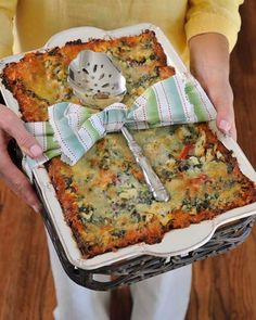 awesome idea: deliver casserole with serving piece...lovely welcome to the neighborhood or housewarming gift!