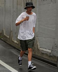 Korean Fashion Men, Best Mens Fashion, Indie Fashion, Fashion Outfits, Japan Outfit, Japanese Streetwear, Skate Style, Men Street, Japan Fashion