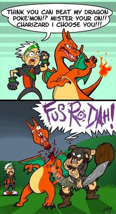 Skyrim vs Pokemon // funny pictures - funny photos - funny images - funny pics - funny quotes - #lol #humor #funnypictures