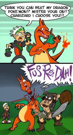 Skyrim vs Pokemon - funny pictures / funny pics / lol / #humor #funny #funnypictures #funnypics