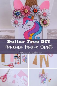 Here is a fun activity that unicorn-loving kids will enjoy doing! If you have a Dollar Tree, Amazon or Poundland, this is also a cheap craft idea so it doesn't really break the bank. This DIY Unicorn Frame craft requires only a handful of materials, but you can let the kids go wild with the glitter and foam!