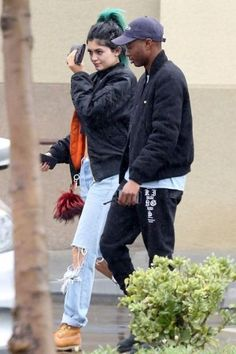 Kylie Jenner wearing Timberland Premium Boot in Wheat Nubuck and Fendi Buggies Keychain