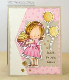 Sweet Birthday Wishes stamp set and Die-namics, Confetti Background, Blueprints…